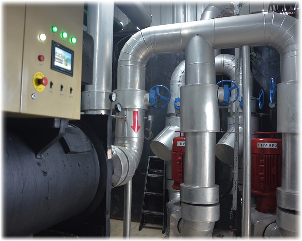 Chiller and pumps