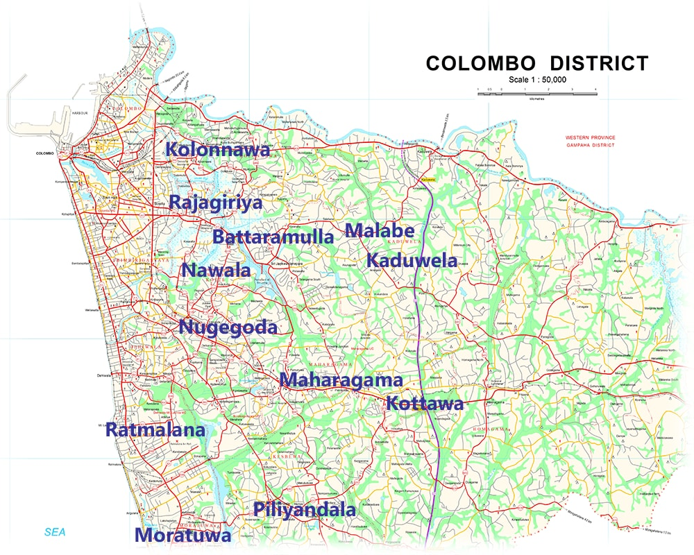 townships in Colombo